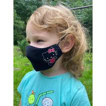 "Дитяча захисна маска для обличчя ""Hello Kitty""  чорна"