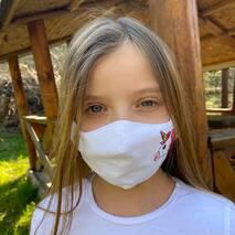 """Підліткова захисна маска для особи """"Одноріг""""  біла"""