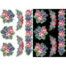 Схема для вишивки бісером на водорозчинному неклейовому флізеліні Барвиста Вишиванка Канва з нанесеним малюнком 20х30 (ФЛ023фн2030)