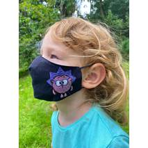 """Дитяча захисна маска для особи """"Їжачок"""" чорна"""