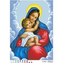 Схема для вышивки бисером Барвиста Вышиванка Мария с Ребенком 43х59 (ТО095ан4359)