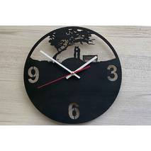 Дизайнерський настінний дерев'яний годинникLove