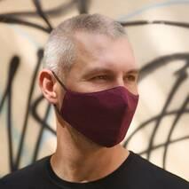 """Захисна маска для обличчя """"Purple"""" бордовий"""