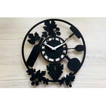 Дизайнерський настінний дерев'яний годинникVine