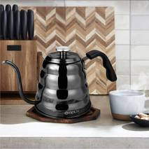 Чайник Opux Black з термометром для заварювання кави (1.2 л)