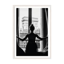 """Постер """"In Paris"""" із склом антивідблиску 420x594  мм у білій рамці"""