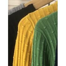 P-M Короткий кардиган со стильным узором - желтый цвет, XL/XXL
