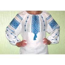 вышиванка женская с синим орнаментом