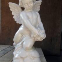 """Скульптура из белого декоративного бетона """"Ангел"""", 56 см"""