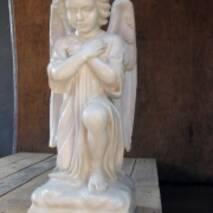 """Скульптура из белого бетона """"Ангел"""", 54 см"""
