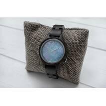 Дерев'яний наручний годинник Blue Star