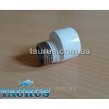 """Білий нержавіючий ексцентрик - подовжувач для зміщення підключення до 4 мм; різьблення 1/2"""" внутр. - 1/2"""" наружн."""