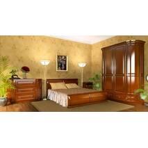Білий спальний гарнітур Омега з дерева