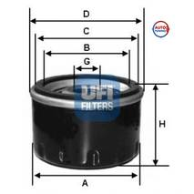 Масляний фільтр UFI (високий) ВАЗ 2101-2107, 2 121