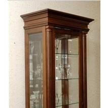 Белая классическая витрина Соната из дерева