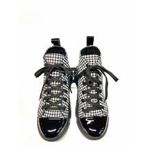 Кеды молодежные кожаные чёрно-белые, 36, 102-19.05
