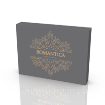 Упаковка картонная для постельного белья серая Romantica 455х330х60 мм