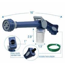 Універсальний Розпилювач Водомет EZ Jet Water Cannon Original - Насадка на Шланг Для Поливу, Водяна Гармата для Мойки Авто, Мультифункціональний Пістолет