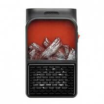 Портативний міні Обігрівач Камін Rovus Flame Heater Original 900w LCD- дисплей   Пульт ДУ / Компактний Керамічний Тепловентилятор, Дуйчик