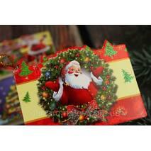 Міні листівка  для підпису подарунків з глиттером  МІКС 10шт