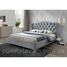 Двоспальне ліжко Signal Aspen Velvet 180X200 Сірий (ASPENV180SZD)