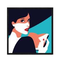 """Постер """"*Girl Pop Art*"""" с антибликовым стеклом  30 x 30 см в чёрной рамке"""