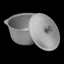 Казан алюмінієвий 5,5 л  з кришкою   (65-262)