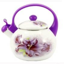 Чайник  емальований  зі свистком Zauserg  Лілія 2,2 л  6/ L (81-233)