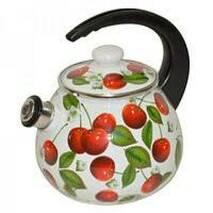 Чайник  емальований 2,5 л  зі свистком 2711/3   (79-1)