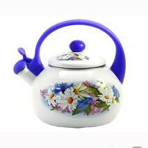 Чайник  емальований Zauserg  Ромашка 2,2 л зі свистком FT 37/ L (81-235)