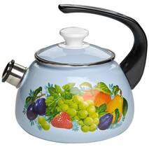 Чайник емальований  2 л зі свистком  43615-103/10 (79-312)