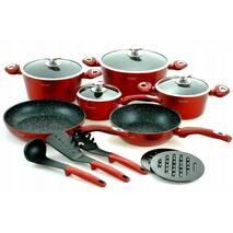 Набір кухонного посуду з литого алюмінію 15 предметів Edenberg  EB - 5612 (69-230)