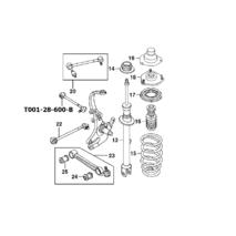 Мазда Кседос 6-9 ; MX6 сайлентблок рычага подвески заднего поперечного развального малого