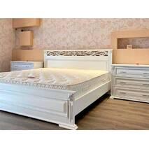 Ліжко Лорен з тумбами з масиву ясеня