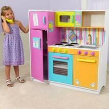 Детская деревянная кухня Kidkraft Delux Big and Bright 53100