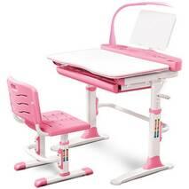 Комплект парта і стільчик Evo - kids Evo - 19 (з лампою) рожевий