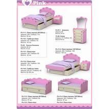 Дитяча кімната Pink меблі для дівчинки