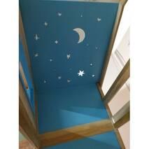 Дитяче двох'ярусне ліжко Будиночок Звіздаря