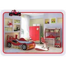 Дитяча кімната з ліжком машинкою Driver Маквин хлопчикові