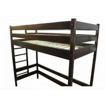 Кровать-чердак Альпы Тон коричневый (из дерева)