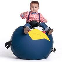 Дитячий пуф крісло у вигляді синьої пташки AngryBirds