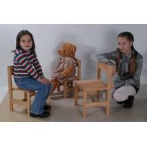 Стільчик 28см дерев'яний для дітей (букові меблі)