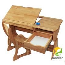 Парта растишка Lux і стілець (ширина 120см)