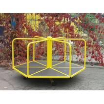 Шестиугольная детская карусель для катания стоя для улицы