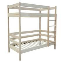 Двох'ярусне ліжко з сосни для дітей