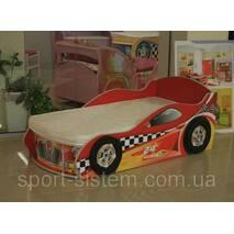 Кровать в виде машины для мальчиков (с нишей для белья)