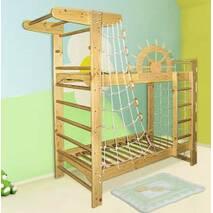 Двоповерхове ліжко для підлітків   спортивний куточок