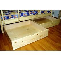 Двох'ярусне ліжко з ясена з ящиками 190см.