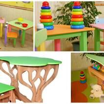 """Детский набор стол и стул """"Дубок"""" растишка (салатовый)"""