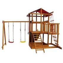 Игровой комплекс для улицы Babyland-5 для детей. Горка Качели Скалодром Замок